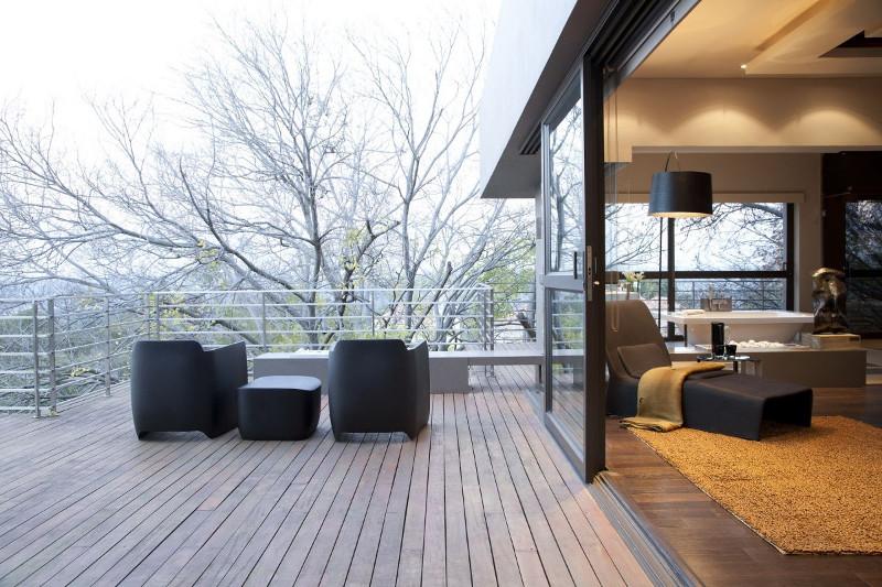 terrasse bois - grenoble - extension bois - architecture - design - amnios - terrasse bois exterieure