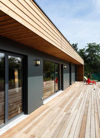terrasse bois - grenoble - extension bois - architecture - design - amnios - grande terrasse moderne
