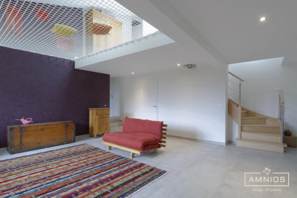 amenagement combles - grenbole - amnios - maitre d'oeuvre - renovation - agence architecture - vue sur le salon