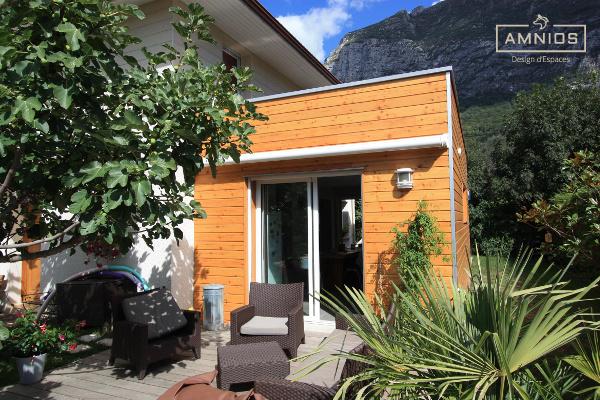 extension - maison - grenoble - st egreve - renovation - architecture - amnios - extension bois dans le jardin