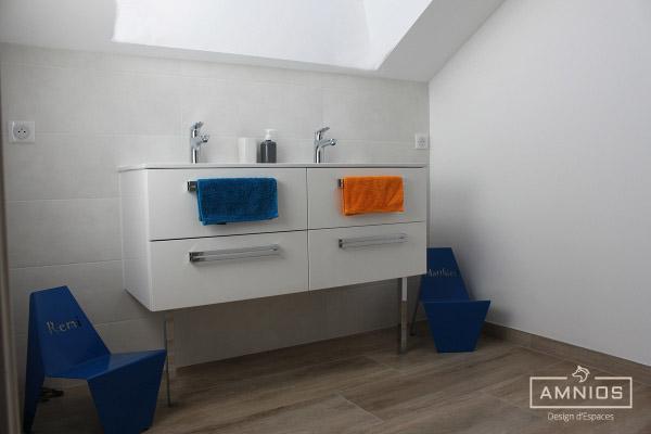 renovation - maison - grenoble - amnios - maitre d'oeuvre - design - salle de bain des enfants