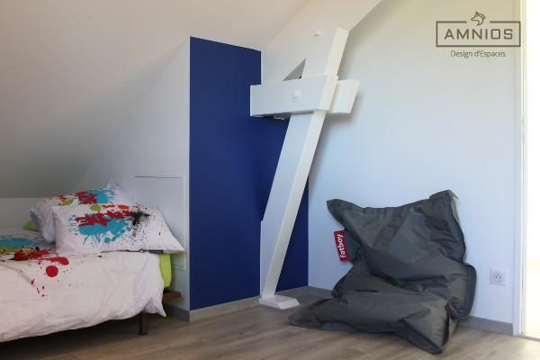 renovation - maison - grenoble - amnios - maitre d'oeuvre - design - chambre enfants