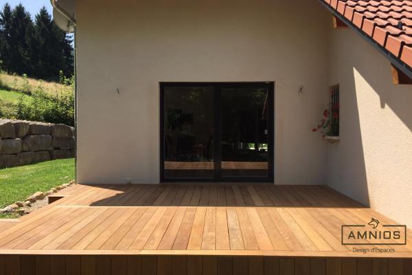 renovation - maison - grenoble - amnios - maitre d'oeuvre - design - terrasse bois renovee par amnios