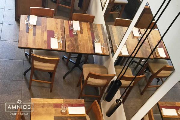 la barratte - restaurant - renovation - grenoble - design - amnios - vue de haut du restaurant