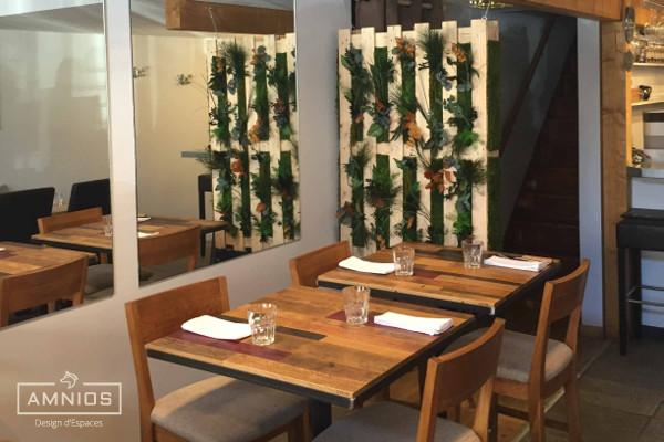 la barratte - restaurant - renovation - grenoble - design - amnios - decoration avec palettes