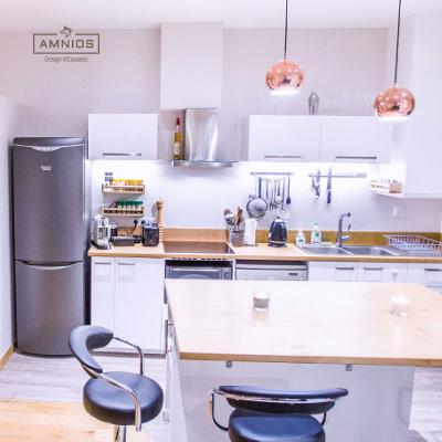renovation appartement - maitre d'oeuvre - grenoble - amnios - agence architecture - cuisine d'appartement renovee par amnios
