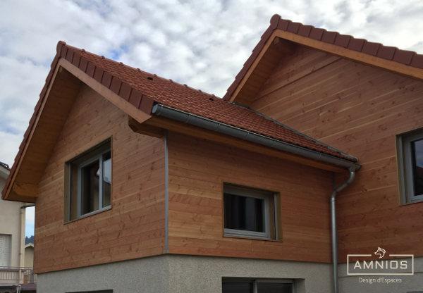 surelevation toit - grenoble - renovation - amnios - maitre d'oeuvre - agence architecture - design - angle de vue sur la surelevation de toit