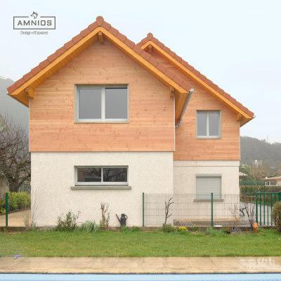 surelevation toit - grenoble - renovation - amnios - maitre d'oeuvre - agence architecture - design - presentation de la maison