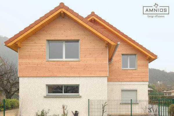 surelevation de toiture - toit - grenoble - travaux - amnios